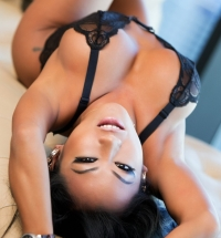 Penthouse CJ Miles lace bodysuit gets naked