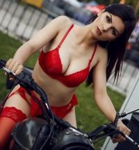 Eve Thompson in lingerie