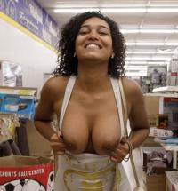 Zishy Noelle Monique nude in public