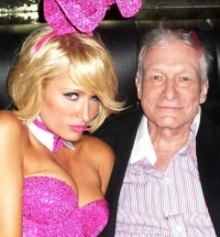 Paris Hilton at Playboy Partu with Hugh Hefner