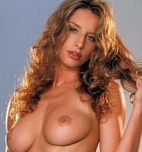 Curly brunette beauty stripping