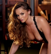 Gorgeous pornstar Tori Black toys her pussy on a pool table